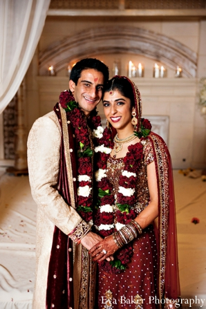 Indian-wedding-ceremony-groom-bride-portrait