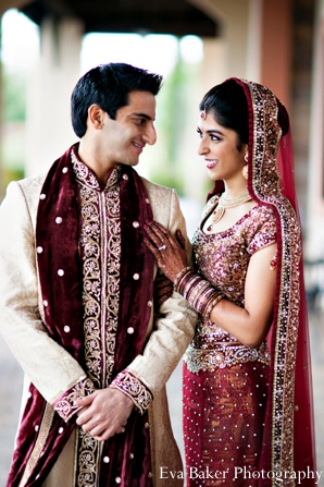 Indian-wedding-portrait-groom-bride-outdoors