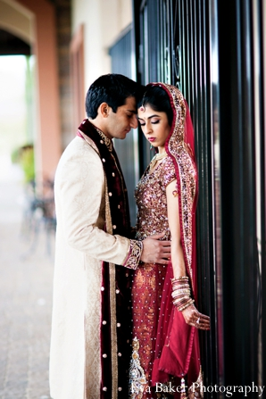 Indian-wedding-portrait-groom-bride-traditional