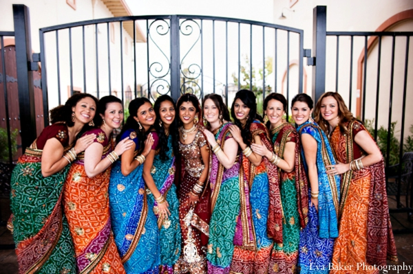 Indian-wedding-portrait-wedding-party-bride-ideas
