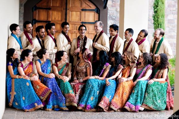 Indian-wedding-portrait-wedding-party-ideas
