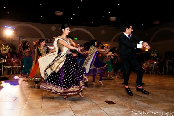 Indian-wedding-reception-bride-groom-dancing