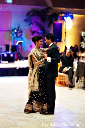 Indian-wedding-reception-bride-groom-first-dance