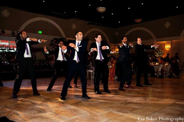 Indian-wedding-reception-dancing-groomsmen