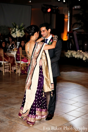 Indian-wedding-reception-groom-bride-dancing