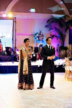 Indian-wedding-reception-groom-bride
