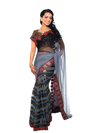 Black fashion indian sari clothing