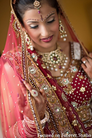 Indian wedding bridal fashion jewelry in Boca Raton, Florida Indian Wedding by Focused on Forever Studio