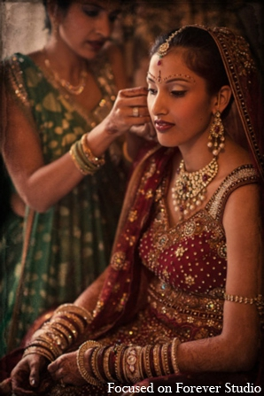 Indian wedding bridal hair makeup jewelry fashion in Boca Raton, Florida Indian Wedding by Focused on Forever Studio