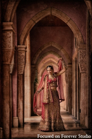 Indian wedding bride fashion choli in Boca Raton, Florida Indian Wedding by Focused on Forever Studio