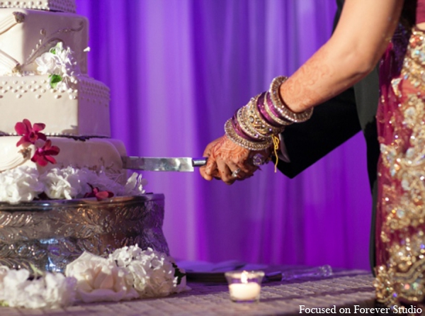 Indian wedding bride groom cake in Boca Raton, Florida Indian Wedding by Focused on Forever Studio