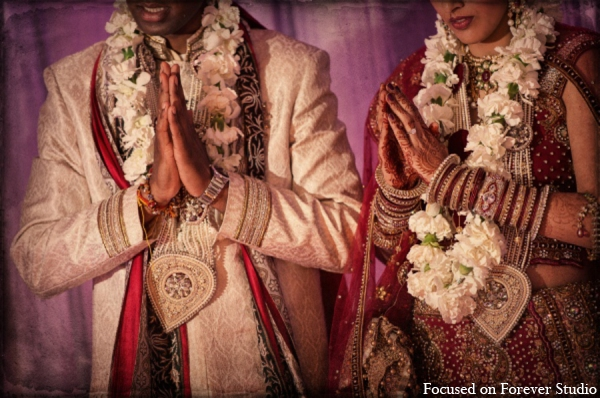 Indian wedding bride groom ceremony in Boca Raton, Florida Indian Wedding by Focused on Forever Studio