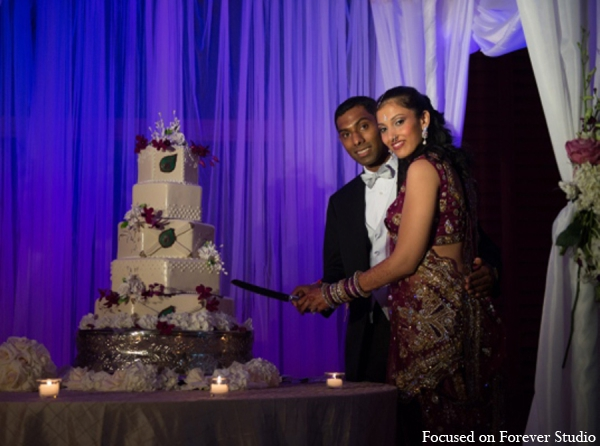 red,dark purple,gold,white,plum purple,cakes and treats,indian bride and groom,indian wedding cake,indian bride groom,photos of brides and grooms,images of brides and grooms,indian bride grooms,indian wedding cakes,Focused On Forever Studio