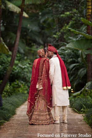 Indian-wedding bride groom outfits in Boca Raton, Florida Indian Wedding by Focused on Forever Studio