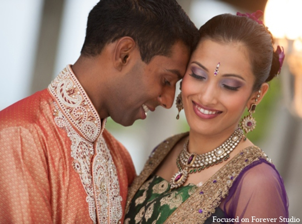 Indian wedding bride groom sangeet in Boca Raton, Florida Indian Wedding by Focused on Forever Studio