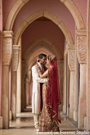 Indian wedding bride groom traditional in Boca Raton, Florida Indian Wedding by Focused on Forever Studio