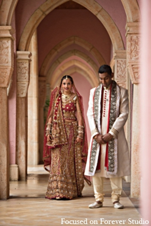 Indian wedding bride groom in Boca Raton, Florida Indian Wedding by Focused on Forever Studio