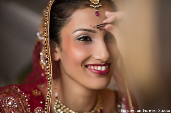 red,gold,bridal jewelry,Hair & Makeup,indian wedding makeup,indian bridal makeup,indian bride makeup,Focused On Forever Studio