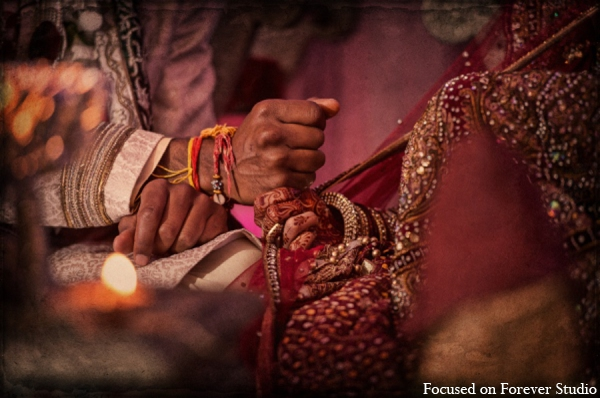 red,gold,cream,white,traditional indian wedding,indian wedding traditions,Focused On Forever Studio
