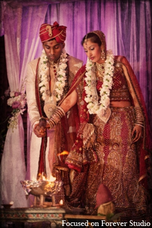 Indian wedding ceremony customs clothing in Boca Raton, Florida Indian Wedding by Focused on Forever Studio