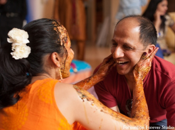 Indian wedding gaye holud ritual in Boca Raton, Florida Indian Wedding by Focused on Forever Studio