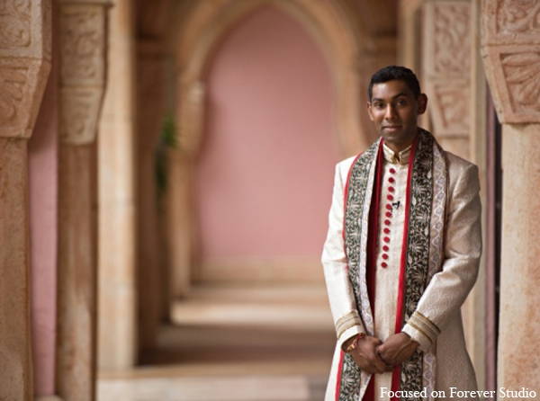 Indian wedding groom photo sherwani in Boca Raton, Florida Indian Wedding by Focused on Forever Studio