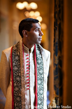 Indian wedding groom portrait in Boca Raton, Florida Indian Wedding by Focused on Forever Studio
