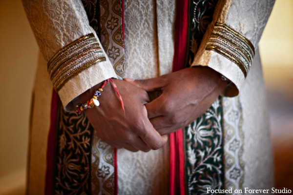 Indian wedding groom sherwani in Boca Raton, Florida Indian Wedding by Focused on Forever Studio