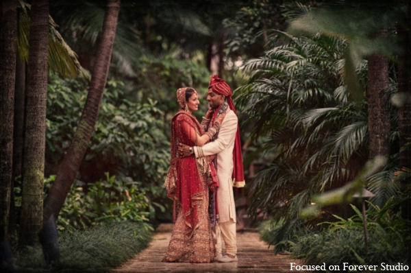 Indian wedding photography outdoor portrait in Boca Raton, Florida Indian Wedding by Focused on Forever Studio