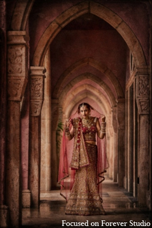 red,gold,bridal fashions,portraits,indian wedding outfits,indian wedding outfits for brides,Focused On Forever Studio
