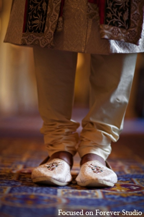 Indian wedding sherwani groom shoes in Boca Raton, Florida Indian Wedding by Focused on Forever Studio