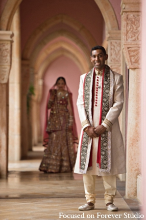 Indian wedding tradition bride groom in Boca Raton, Florida Indian Wedding by Focused on Forever Studio