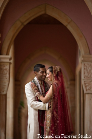 Indian wedding traditional bride groom in Boca Raton, Florida Indian Wedding by Focused on Forever Studio