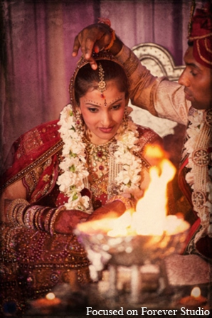 red,gold,cream,white,ceremony,traditional indian wedding,indian wedding traditions,Focused On Forever Studio