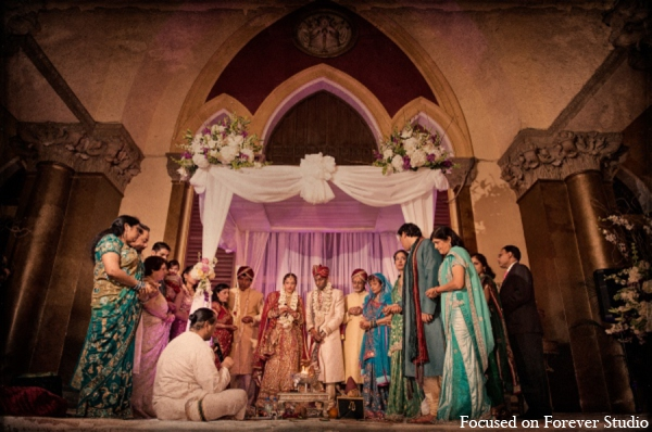 Indian wedding traditional mandap ceremony in Boca Raton, Florida Indian Wedding by Focused on Forever Studio