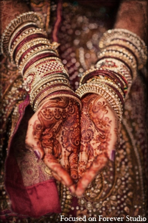 Indian wedding traditional mehndi bangles in Boca Raton, Florida Indian Wedding by Focused on Forever Studio