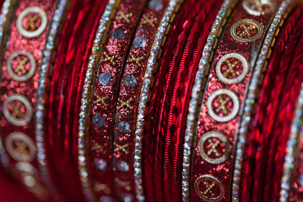Indian wedding bridal bangles in Orlando, Florida Fusion Wedding by Garrett Frandsen