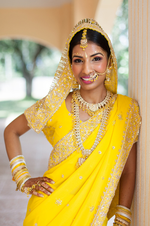 Indian wedding bridal fashion in Orlando, Florida Fusion Wedding by Garrett Frandsen