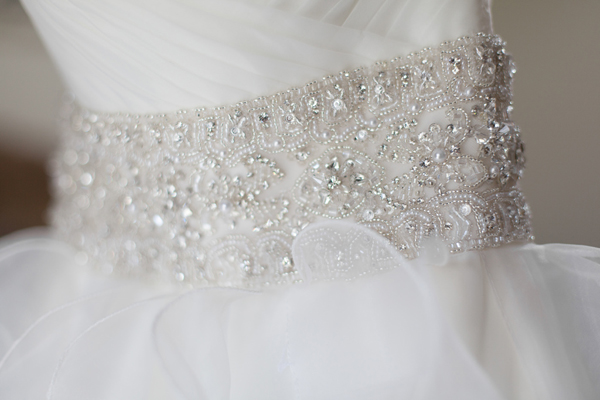 Indian wedding bridal gown detail in Orlando, Florida Fusion Wedding by Garrett Frandsen