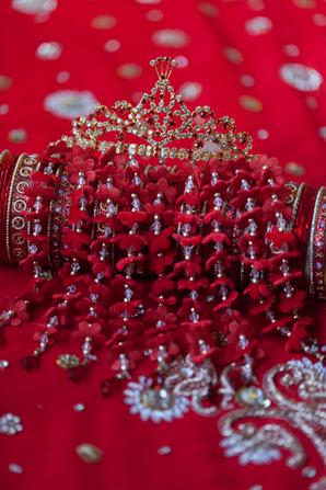 Indian wedding bridal jewelry accessories in Orlando, Florida Fusion Wedding by Garrett Frandsen