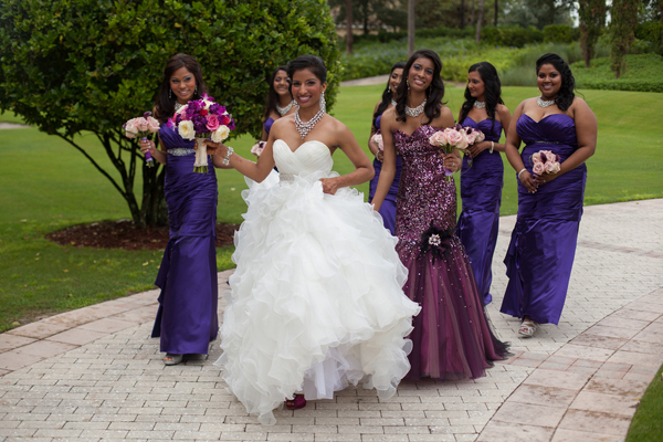 Indian wedding bridal party in Orlando, Florida Fusion Wedding by Garrett Frandsen