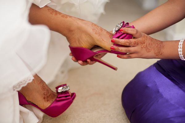 Indian Wedding Bridal Shoes Pink In Orlando Florida Fusion By Garrett Frandsen