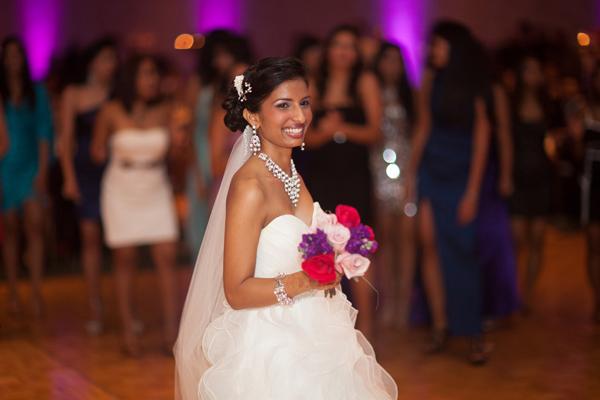 Indian wedding bride bouquet in Orlando, Florida Fusion Wedding by Garrett Frandsen