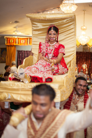 Indian wedding bride entrance in Orlando, Florida Fusion Wedding by Garrett Frandsen