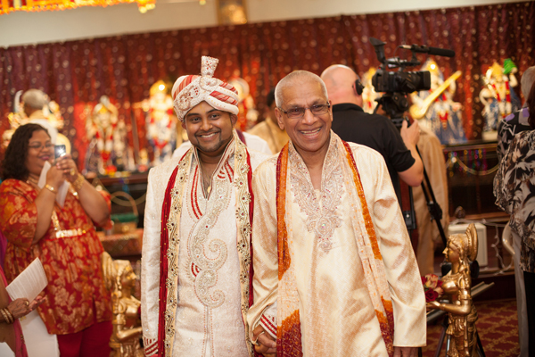 Indian wedding ceremony groom in Orlando, Florida Fusion Wedding by Garrett Frandsen