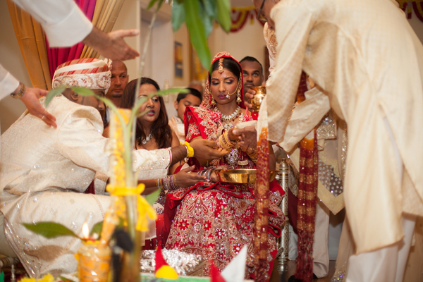 Indian wedding ceremony traditional bride in Orlando, Florida Fusion Wedding by Garrett Frandsen