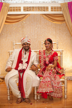 Indian wedding custom mandap in Orlando, Florida Fusion Wedding by Garrett Frandsen