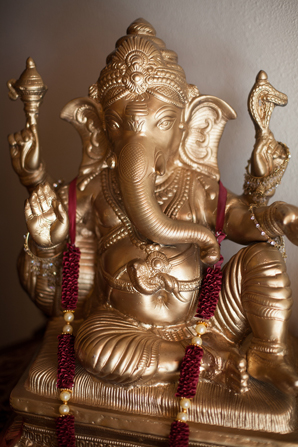 Indian wedding decor ganesh in Orlando, Florida Fusion Wedding by Garrett Frandsen