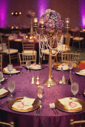 Indian wedding decor tablesetting floral in Orlando, Florida Fusion Wedding by Garrett Frandsen