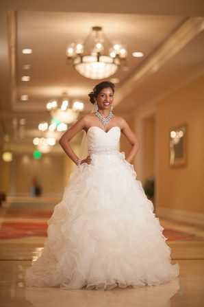 Indian wedding designer ball gown in Orlando, Florida Fusion Wedding by Garrett Frandsen